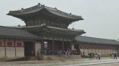 Geunjeongmun Gate, Gyeongbokgung Palace, Seoul, South Korea Stock Footage