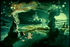 Wide shot two children entering Dream Land Stock Footage
