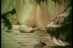 Arabian man pacing in cave Stock Footage