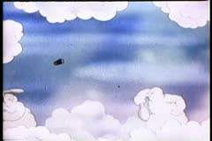 Cloud formations playing badminton Stock Footage