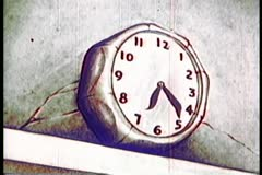 Clock hand spinning Stock Footage