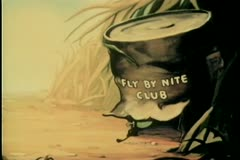 Flies leaving  Fly By Nite Club - stock footage
