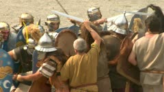 Roman gaul fight 05 Stock Footage