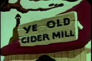 Cartoon of Ye Old Cider Mill Stock Footage