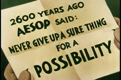 Close-up of paper with Aesop''s advice written on it - stock footage