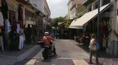 Athens street 6 - stock footage