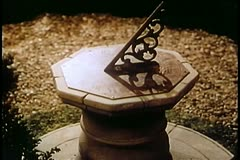 Sundial fading to black Stock Footage
