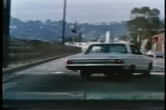 Police car chase on highway Stock Footage