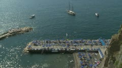 Santa Marinella (near Sorrento) beach bathers (2) Stock Footage
