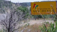 Stock Video Footage of Welcome to New Mexico
