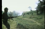 Soldier gunning down enemies Stock Footage