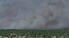 Corrales NM Bosque Fire - stock footage