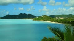 Caribbean Bay Antigua Stock Footage