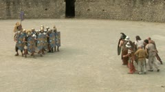 Roman gaul fight 09 Stock Footage