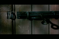 Close-up door mysteriously locking Stock Footage