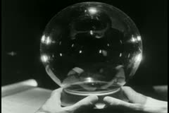 Point of view looking into cystal ball Stock Footage