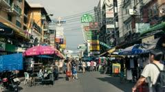 Bangkok Khaosan Road Stock Footage