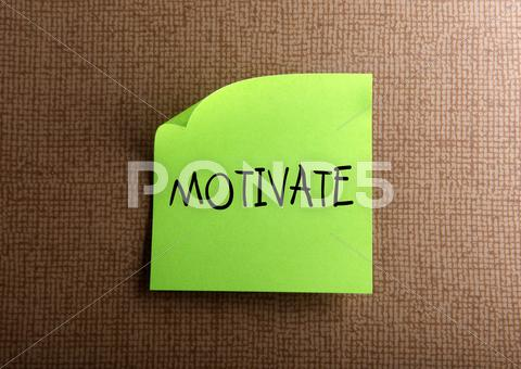 Stock Illustration of motivate