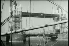 Wide shot London Bridge Stock Footage