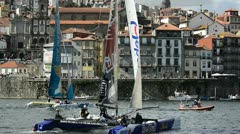 Participants compete in the Extreme Sailing Series Stock Footage