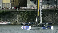 Red Bull Sailing Team compete in the Extreme Sailing Series Stock Footage