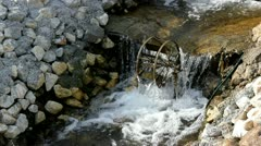 Little mill on the creek Stock Footage