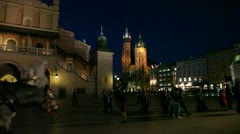 Night Cracow Stock Footage