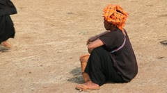 Paoh woman  at the Taung Tho Market Stock Footage