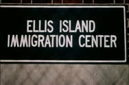 Stock Video Footage of Ellis Island Immigratrion Center sign