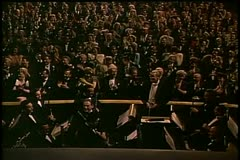 Wide shot audience applauding in theater Stock Footage
