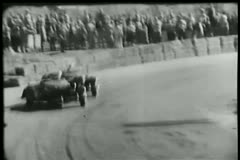 Cars colliding during road race Stock Footage