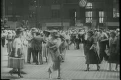Grand Central Station in the 1940s - stock footage