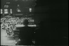 Aerial view of Grand Central Station in the 1940s - stock footage