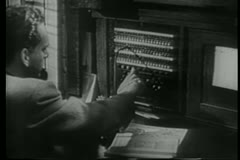 Telegraph operators at work Stock Footage