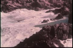 Aerial view of water gushing through mountains Stock Footage