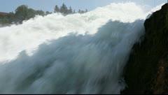 Rhine Falls near Schaffhausen in Switzerland Stock Footage