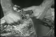 Close-up hands breaking chain lock Stock Footage