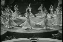 High angle view female dancers performing in harem Stock Footage
