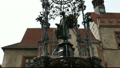 Mother Goose in Goettingen in Germany Stock Footage