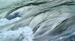 Rapid stream of a mountain river. - stock footage