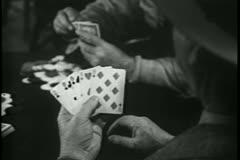 Medium shot men playing poker - stock footage