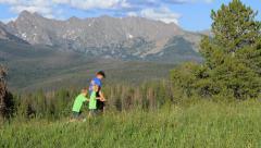 Rocky Mountain Family Stock Footage