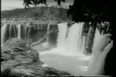 Wide shot waterfalls Stock Footage