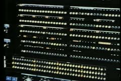 1970s analog computer - stock footage