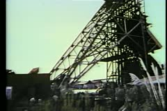 Montage abandoned mine Stock Footage