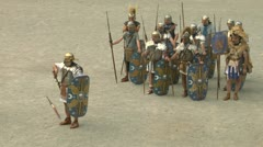 Roman praetorian 07 Stock Footage