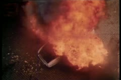 High angle view of car explosion Stock Footage