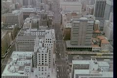 Aerial view of city Stock Footage