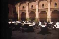 Arabs praying in mosque - stock footage