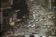 High angle view of busy New York City street Stock Footage